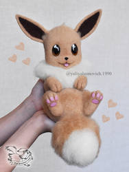 Needle Felted Eevee by YuliaLeonovich