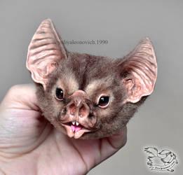 Needle Felted Vampire Bat by YuliaLeonovich