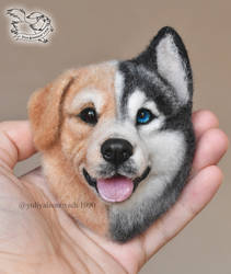 Needle Felted magnet by YuliaLeonovich