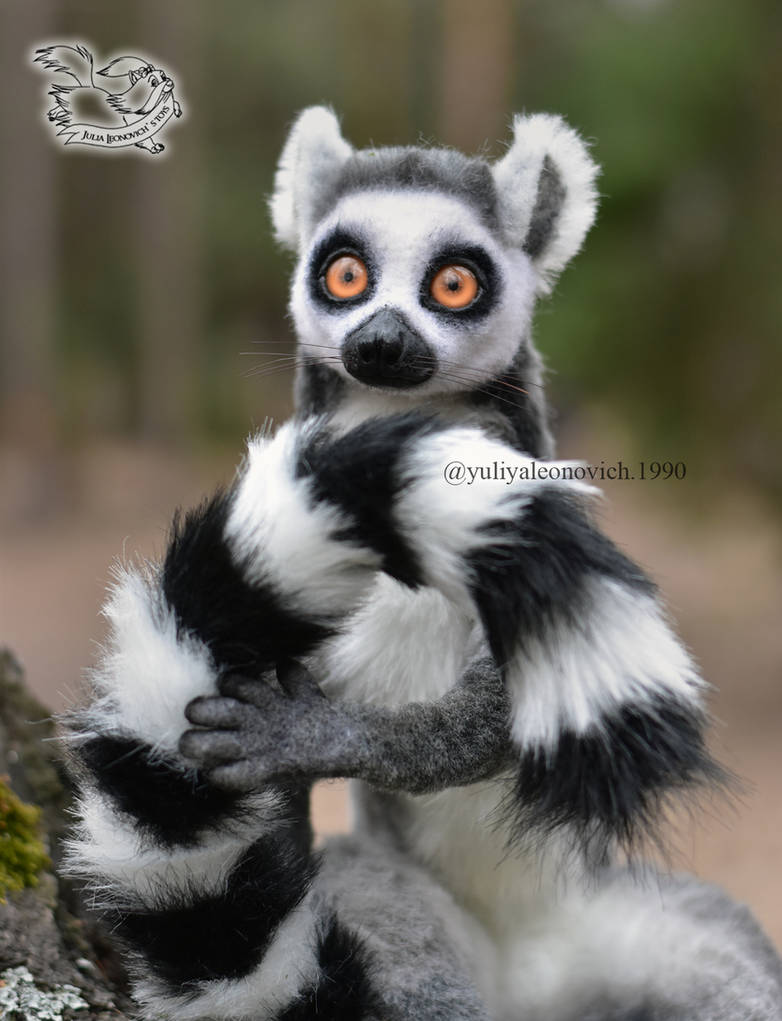 Toy Lemur catta by YuliaLeonovich