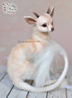 Needle felted fantasy deer by YuliaLeonovich