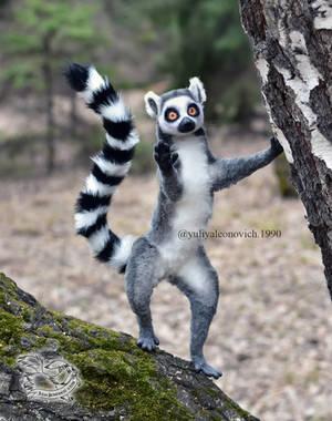 Toy Lemur catta by YuliaLeonovich