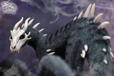 Needle felted fantasy dragon
