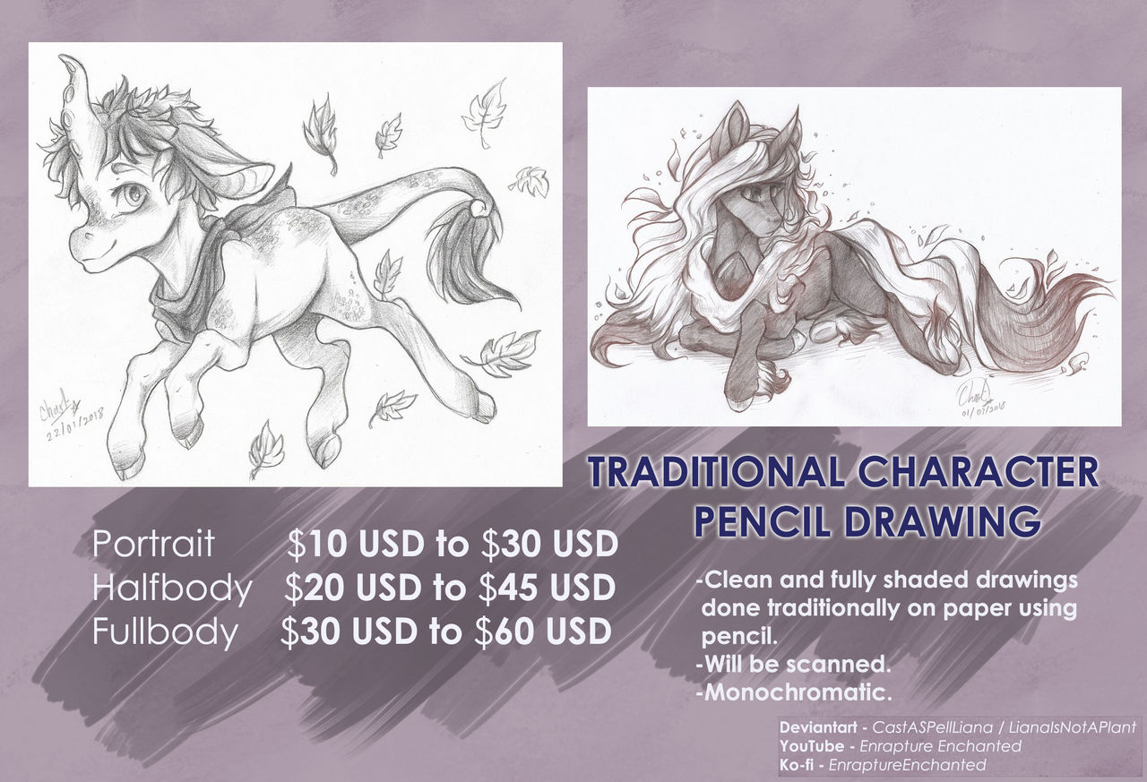 Traditional Commission Price Guide [[CLOSED]]