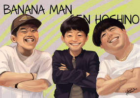 banana-man and hoshino gen