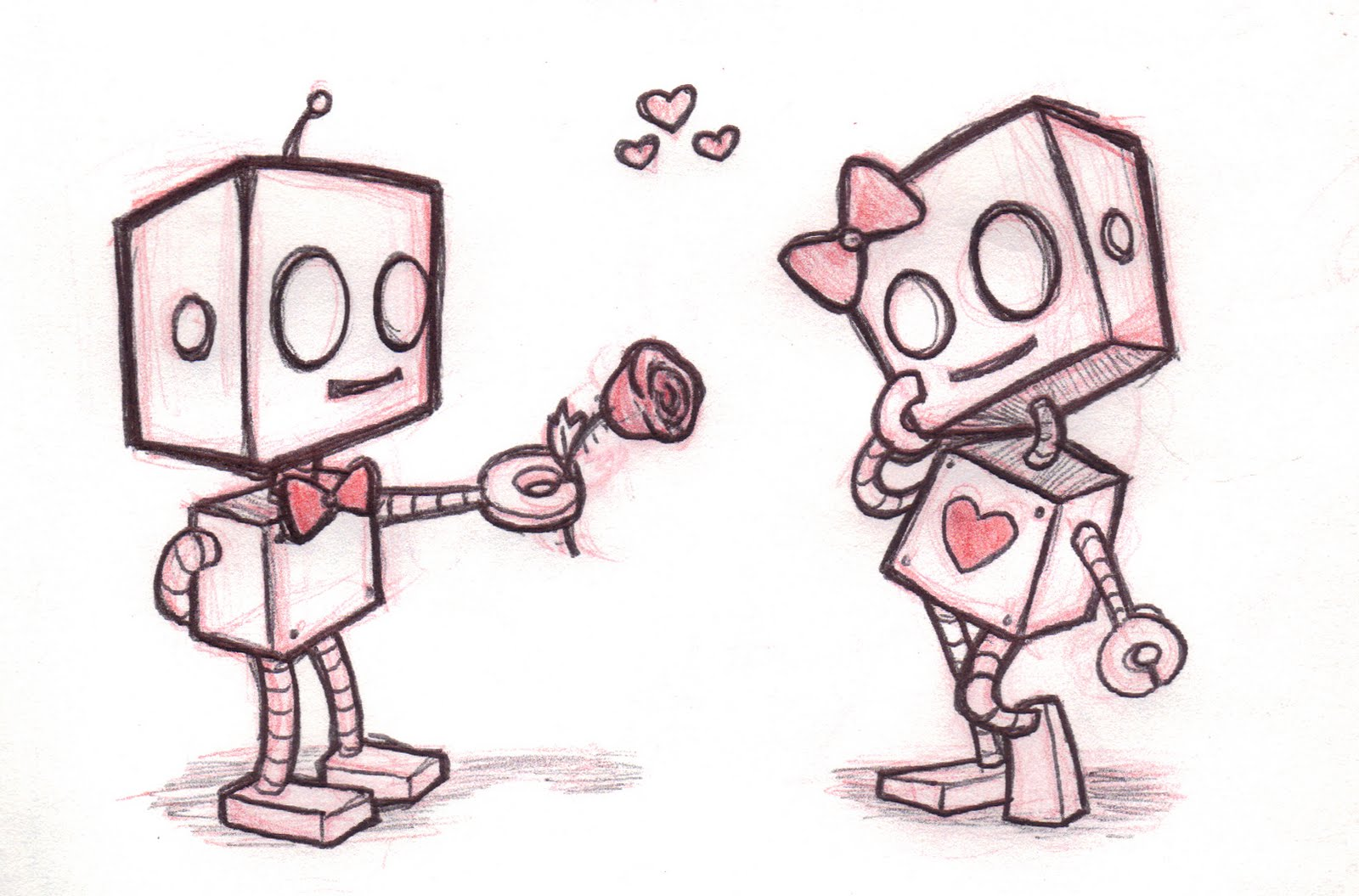 Cute Robot Love Wallpaper I still hold myself to the