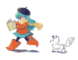 Hilda on a Mission by BlubberBunny