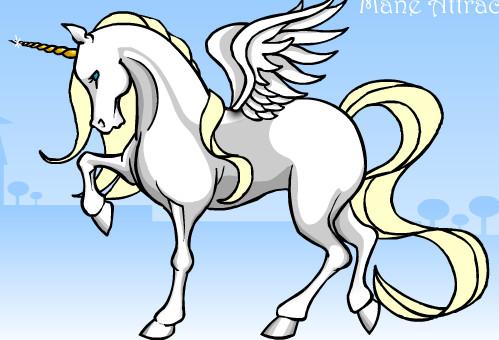 white unicorn by emowolfgirl999