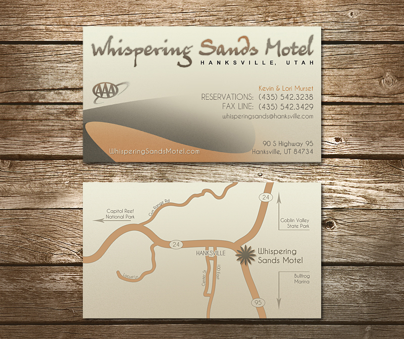 Whispering Sands Motel Business Card by TeddyGrahams on DeviantArt
