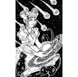 Inktober day 23 : A Galaxy Witch by Mmystery