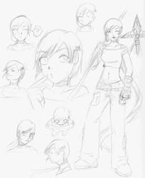 spear girl character sheet by Mmystery