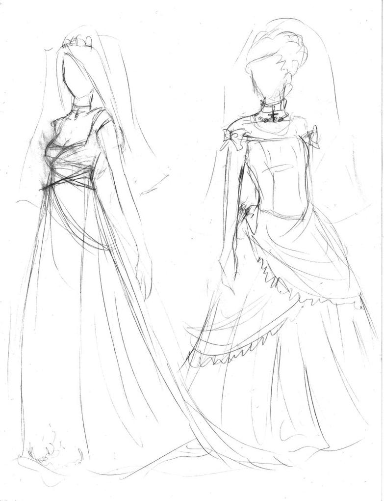 Wedding dresses design1 by Mmystery