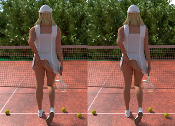 Tailed Tennis Girl Stereo