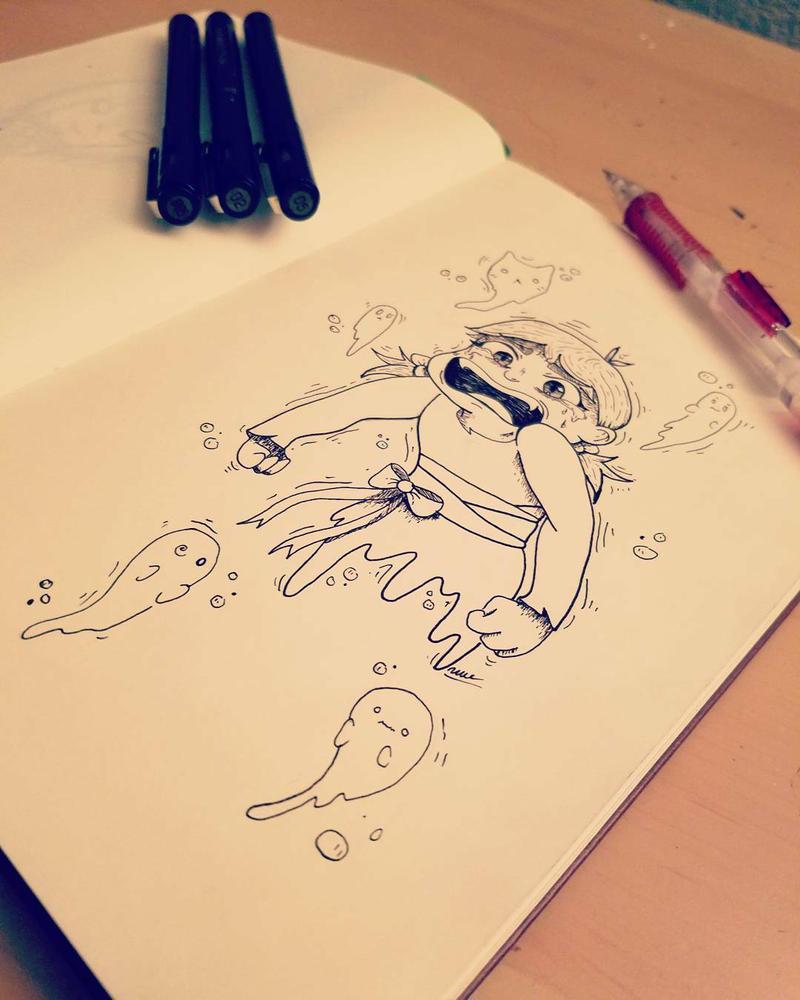 Sad Spoopy Ghost by MonTiFresh