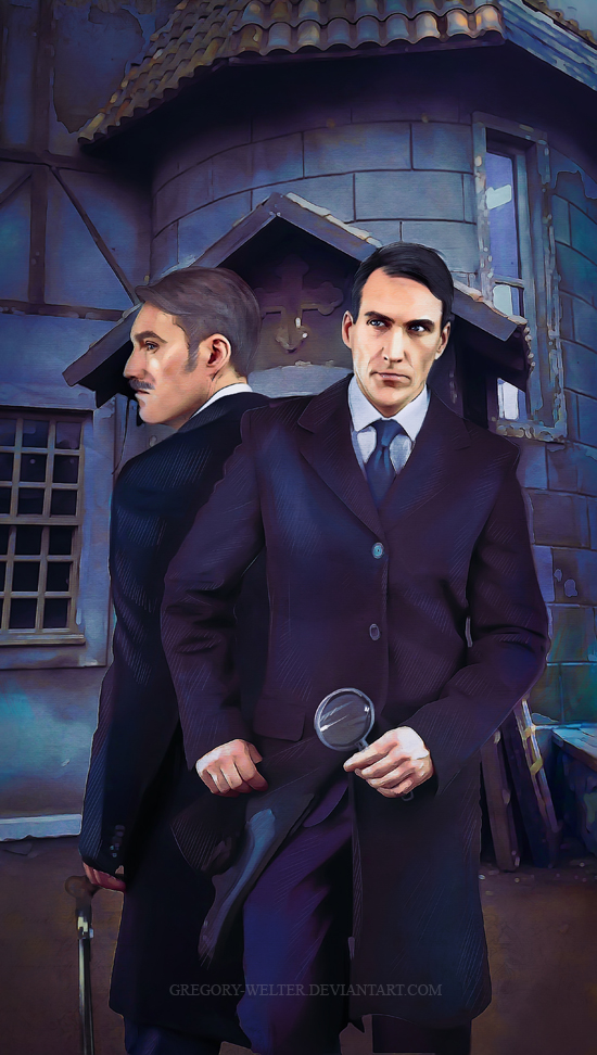sherlock holmes book cover 2 by Gregory-Welter