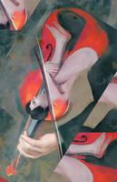 violin shot art by Everybery
