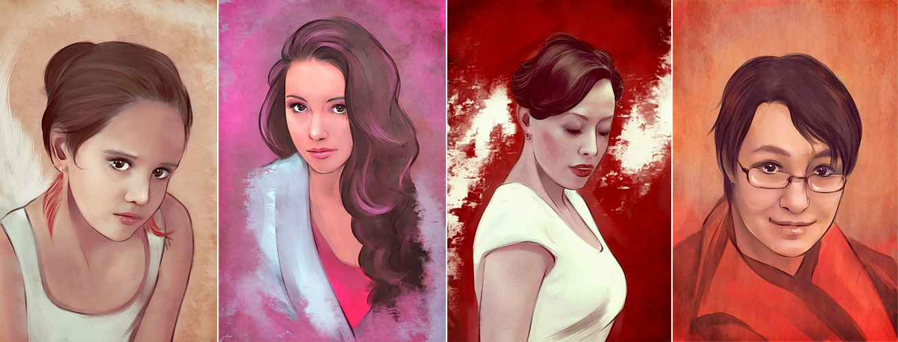 Commission portrait set - 2 by Gregory-Welter