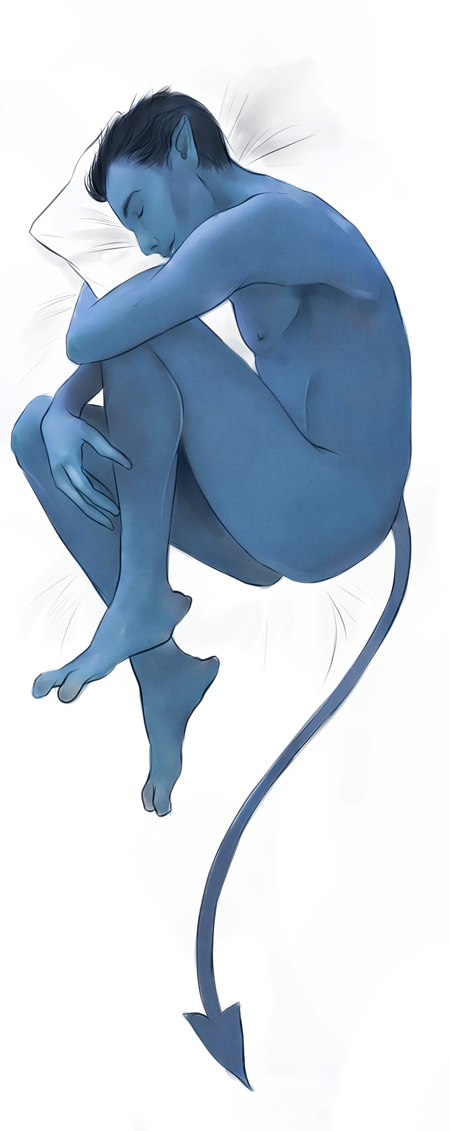 Nightcrawler dakimakura pillow commission by Everybery