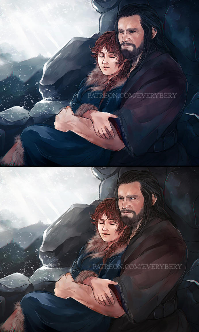 Thorin and Fem!Bilbo by Everybery