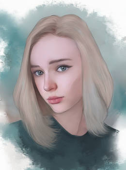 COMMISSION - Beautiful blond girl