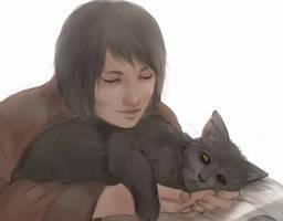 makoto and majima sketch