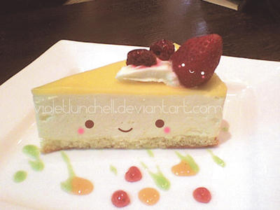 Kawaii cheese cake by VioletLunchell