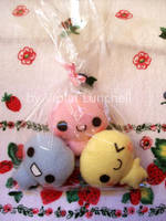 Candy plushies by VioletLunchell