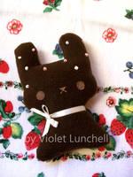 Milk choco bunny plushie by VioletLunchell