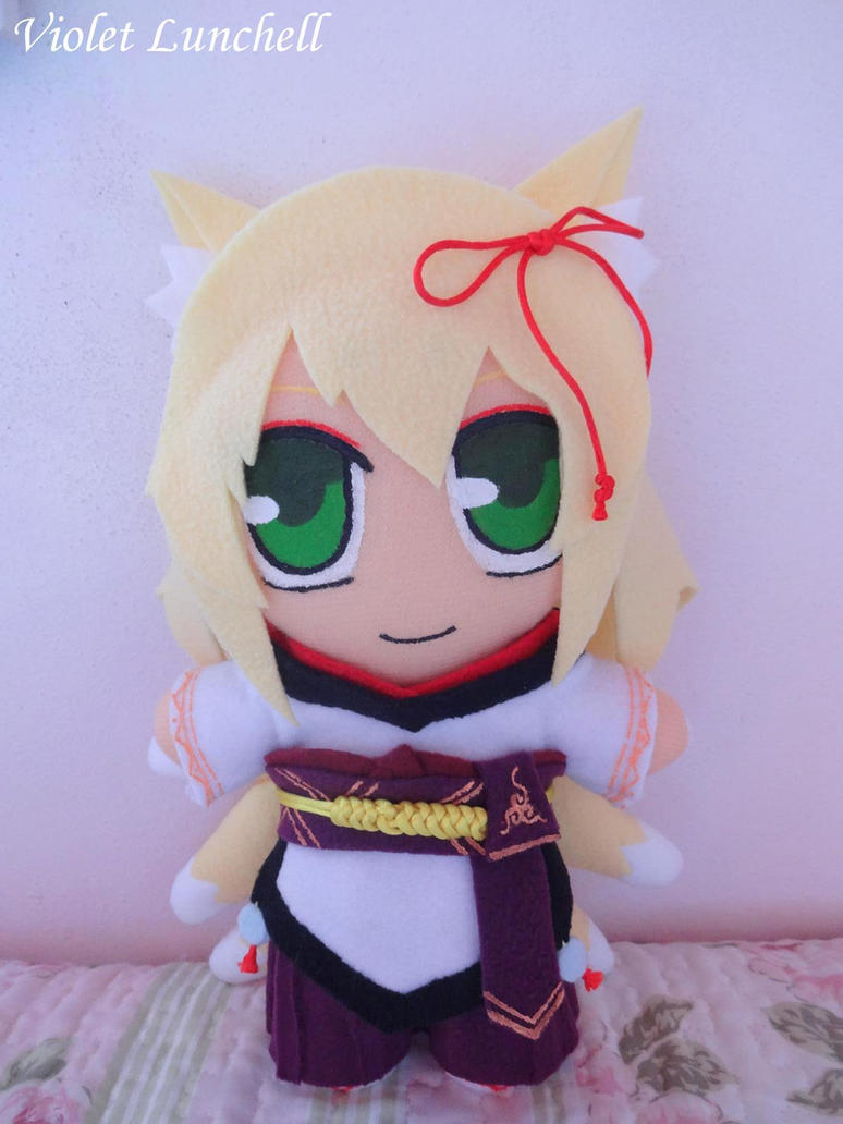 Monster Girl Quest Tamamo Plushie by VioletLunchell