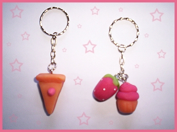 more cute keychains by VioletLunchell