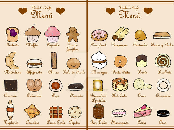 cute menu - new version by VioletLunchell