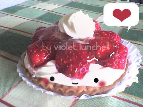 cute chibi strawberry cake