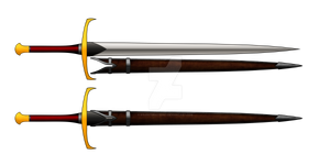Radiant Darkness Sword with Scabbard