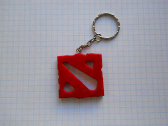dota2 logo - keychain by perforator2012