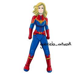 Capitana Marvel by gabrielaartwork