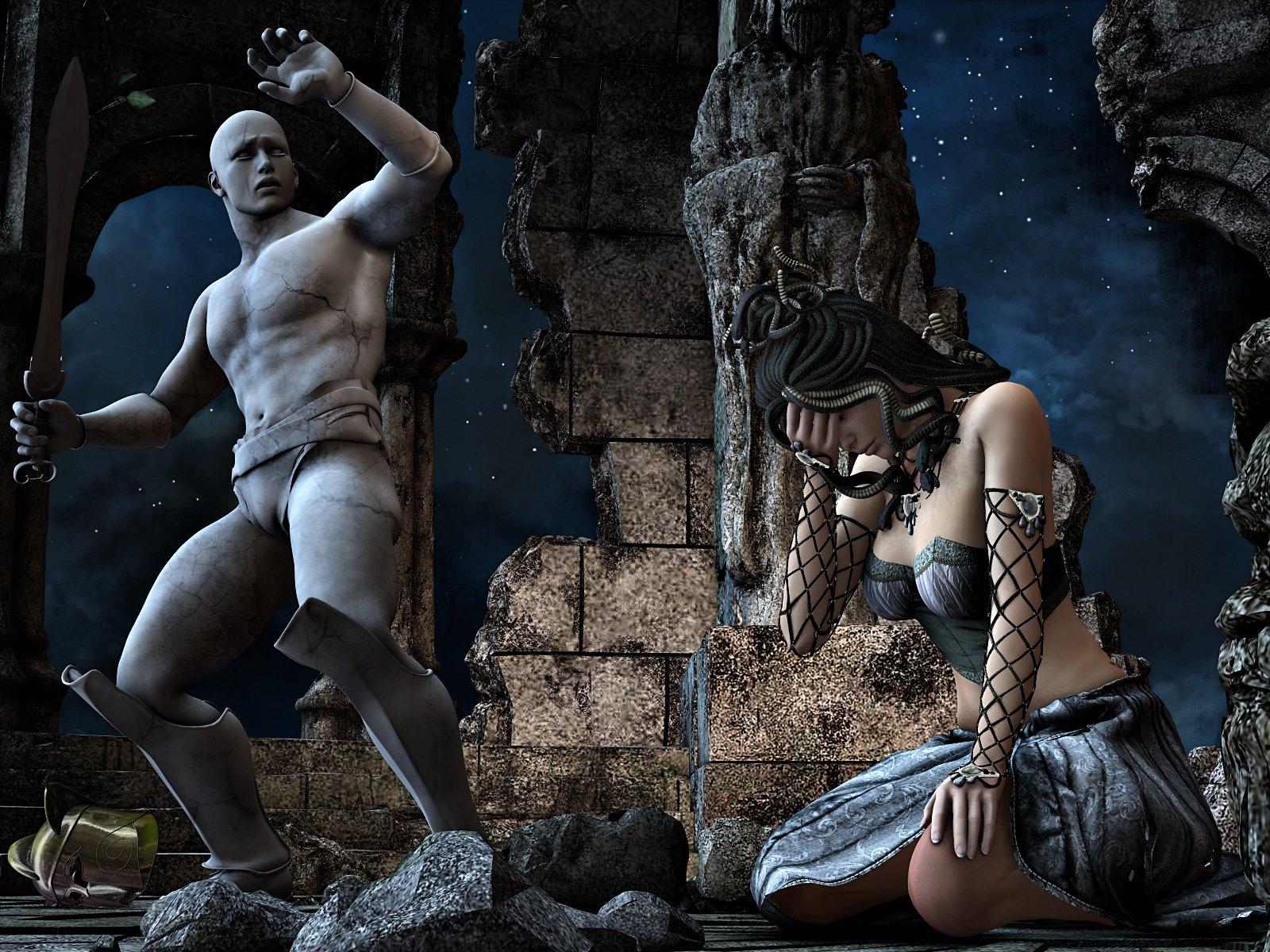 Medusa's fate by HAL001 on DeviantArt