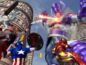 Galactus vs the avengers
