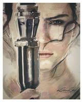 Rey - Daisy Ridley by superfizz