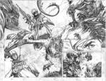 Aliens page 2-3 pencil