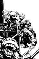 TMNT cover by Spacefriend-KRUNK
