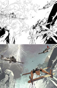 Wild Blue Yonder issue 4 Process Spread