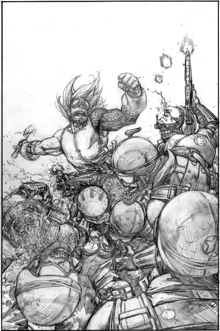 Wild Blue Yonder Issue 5 Page 16 Pencil by Spacefriend-KRUNK