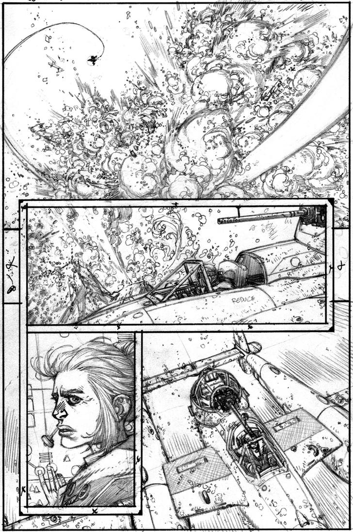Wild Blue Yonder Issue 6 Page 11 Pencil by Spacefriend-KRUNK