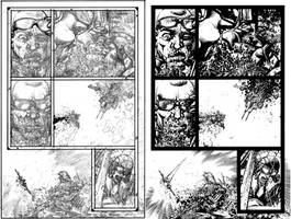 Wild Blue Yonder Issue 6 Page 20 Pencils and Inks