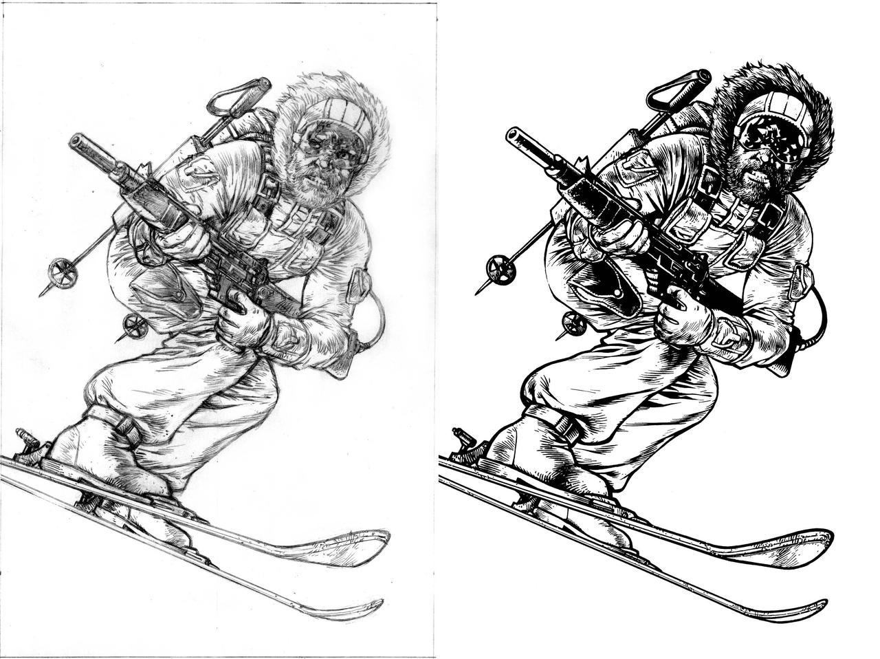 GI Joe Snowjob Pencils and Inks