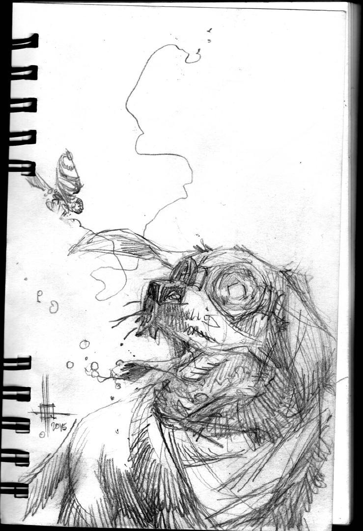 Critter sketch by Spacefriend-KRUNK