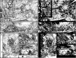 Wild Blue Yonder Issue 6 Page 21 pencil and inks