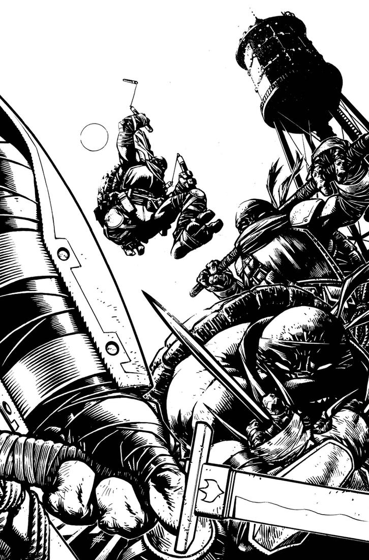 TMNT Deviations Cover Inks by Spacefriend-KRUNK