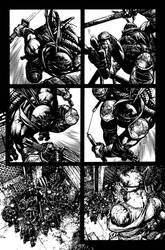 TMNT Page 3 Inks by Spacefriend-KRUNK