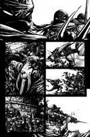 TMNT Page 4 Inks by Spacefriend-KRUNK